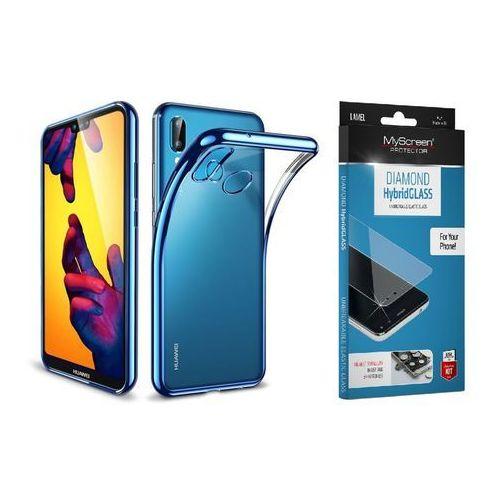 Zestaw | Etui ESR Essential Blue + Szkło ochronne MyScreen DIAMOND HybridGlass dla modelu Huawei P20 Lite