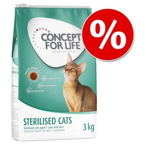 Concept for life 40 zł taniej! karma sucha dla kota, 2 x 3 kg - sterilised cats| darmowa dostawa od 89 zł + promocje od zooplus!| -5% rabat dla nowych klientów (4260358512389)