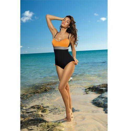 Kostium kąpielowy Whitney Nero-Calendula-Fango M-253 Czarno-pomarańczowy (227)