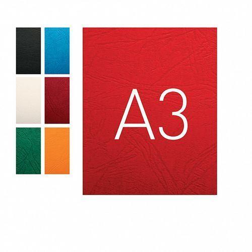 Okładki do bindowania A3 karton skóropodobny O.Universal czerwony 100szt. OPUS