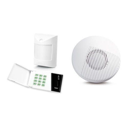 Zestaw alarmowy SATEL CA-4, Klawiatura LED, 1 czujnik ruchu, sygnalizator wewnętrzny SPW-100