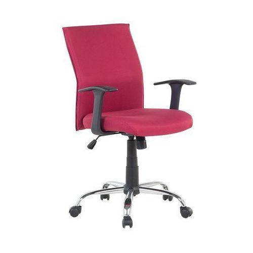 Beliani Krzesło biurowe czerwone regulowana wysokość elite (7081451125132)