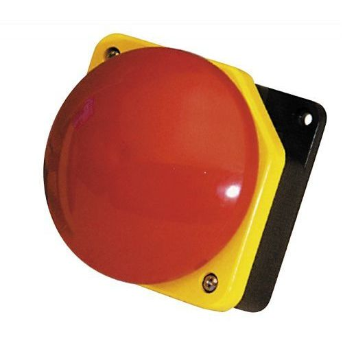 Giovenzana Przycisk dłoniowy fi 90mm czerwony obudowa żółto-czarna 1nc ip66 pg1m9w01