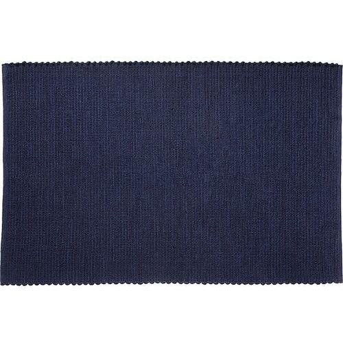 Dywan hübsch 120 x 180 cm ciemnoniebieski wełniany