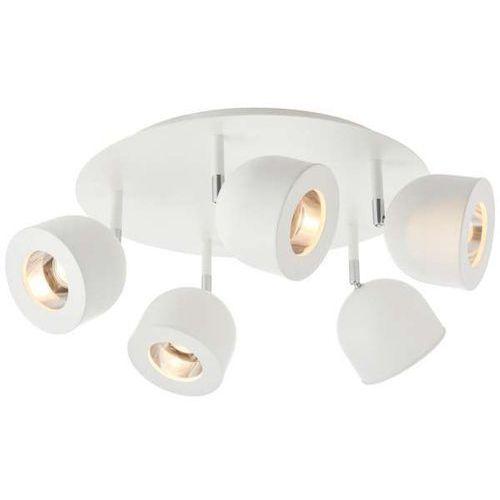 Kaspa Lampa sufitowa pilar 50802501 okrągła oprawa regulowane reflektorki metalowy plafon biały (1000000568363)