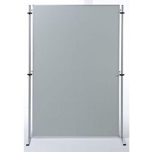 Ścianka funkcyjna, wys. x szer. 1800x1200 mm, obicie tkaniną, kolor jasnoszary,