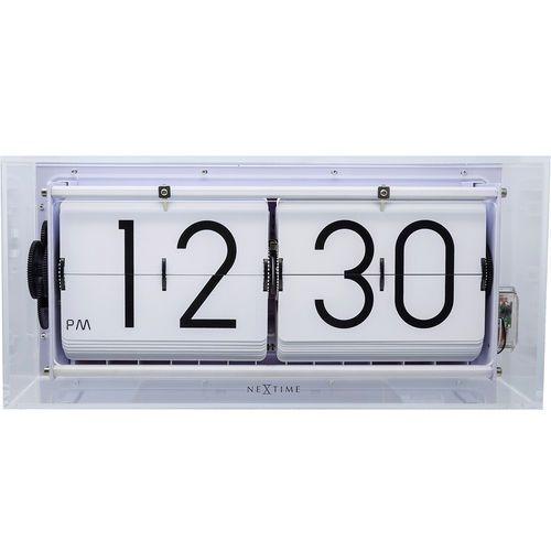 Zegar klapkowy / stołowy Big Flip Clear Nextime transparentny (5209 TR) (8717713021728)