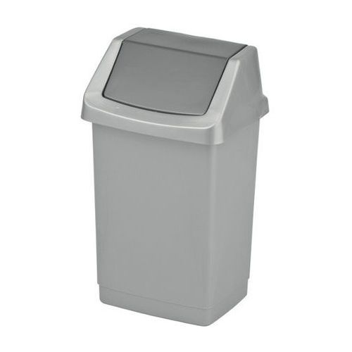 Curver Kosz na śmieci uchylny  click-it 9l - srebrny/grafitowy (3253921731219)