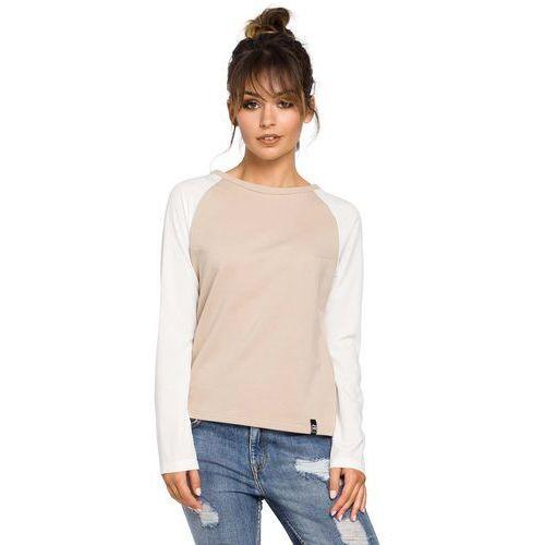 Beżowa klasyczna bluzka z długim rękawem, Moe, 36-44