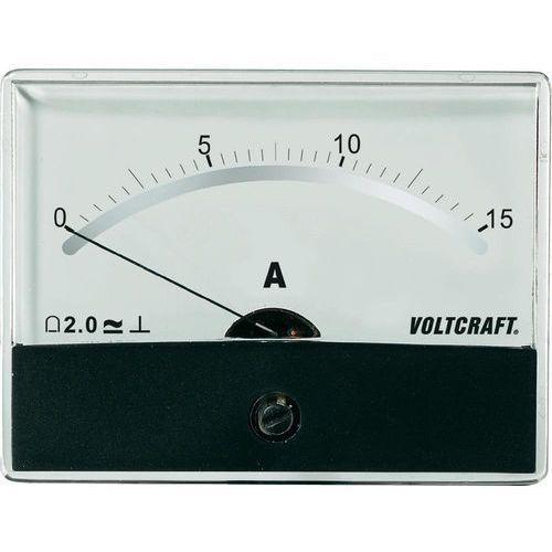 Analogowy wskaźnik panelowy  am-86x65/15a/dc marki Voltcraft