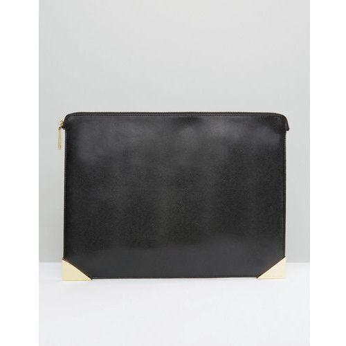 Ted Baker Leather Pouch With Printed Lining - Black - produkt z kategorii- Pozostałe