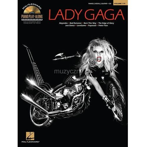 lady gaga - piano play-along (utwory na fortepian, wokal i gitarę + cd) marki Pwm