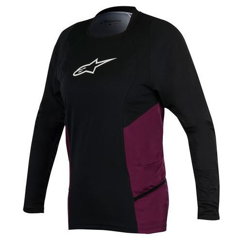 Koszulka Alpinestars STELLA DROP 2 LS JERSEY black -plum S 1786417-1038