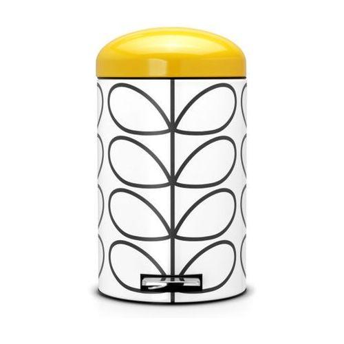Kosz na odpadki 12l Retro Silent - Orla Kiely Cream Brabantia - sprawdź w wybranym sklepie