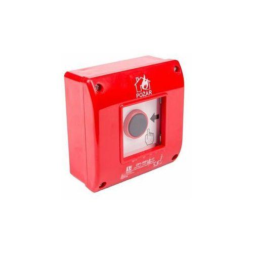 Przycisk ppoż. natynkowy 1z 1r czerwony op1-w01-b\11 marki Spółdzielnia inwalidów spamel