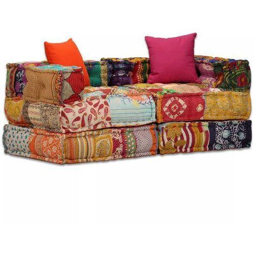 Vidaxl modułowa sofa patchworkowa, 2-osobowa (8718475580287)