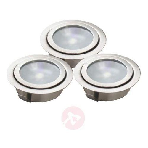 Zestaw 3 opraw wpuszczanych podłogowych LED LUXA