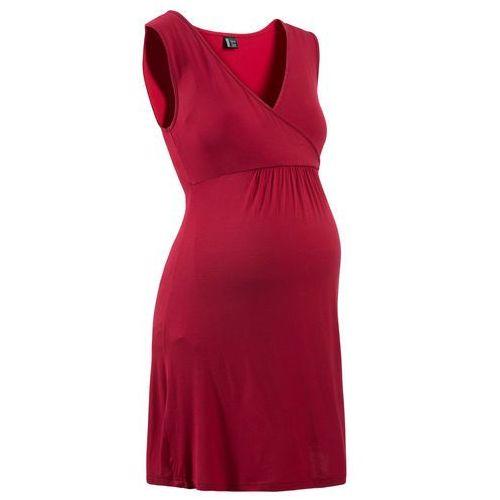 Koszula nocna do karmienia z wiskozy bonprix ciemnoczerwony, w 2 rozmiarach