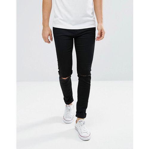 friday skinny fit jean wow black - black, Weekday
