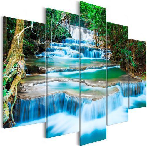 Obraz - wodospad w kanchanaburi (5-częściowy) szeroki marki Artgeist
