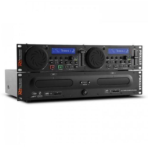 pdx115 podwójny odtwarzacz cd controller dla djów cd ubs sd mp3 możliwość montażu w racku marki Power dynamics
