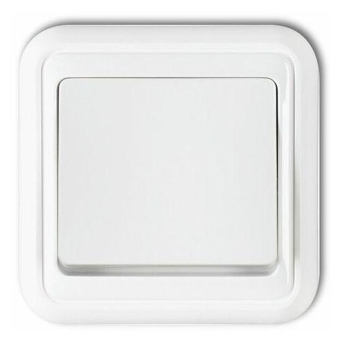Karlik Wyłącznik pojedynczy podświetlany biały liza