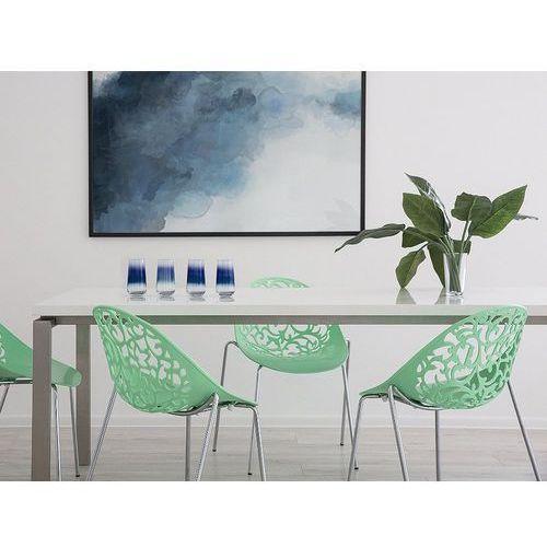 Krzesło do jadalni zielone MUMFORD