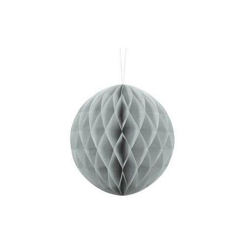 Dekoracja wisząca kula jasnoszara - 20 cm - 1 szt. marki Ap