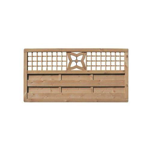Płot szczelny z dekorem 180x90 cm drewniany MALVA WERTH-HOLZ (5902860160571)