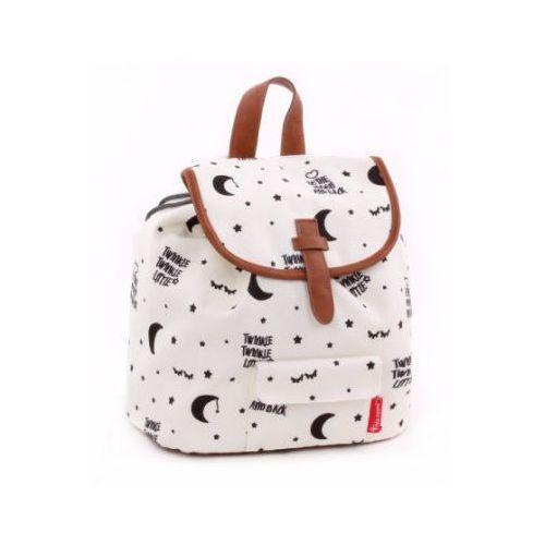 candide Kidzroom Plecak Black and White Gwiazdki, biały, kolor biały