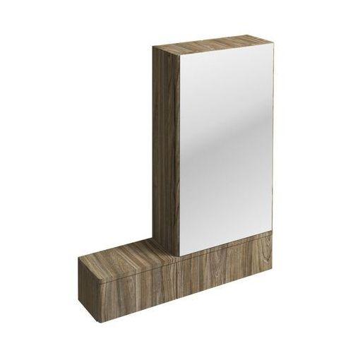 Nova Pro Koło szafka wisząca 70 8 x 85 x 17 6 cm z lustrem prawa szary jesion - 88442000