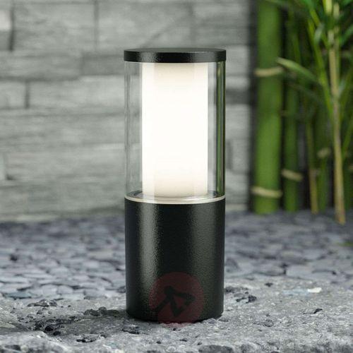 Czarna lampa cokołowa Carlo, wysokość 25 cm