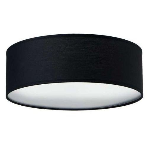 Natynkowa LAMPA sufitowa MIKA ELEMENTARY M 1/C/BLACK Sotto Luce okrągła OPRAWA abażurowa czarna