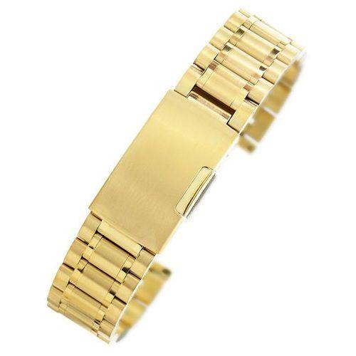 Złota stalowa bransoleta do zegarka sg2001- 20 mm marki Alletime.pl