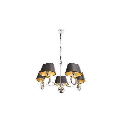 napoleon p0127 lampa oprawa wiszaca zwis 5x40w e14 chrom/czarny/złoty marki Maxlight