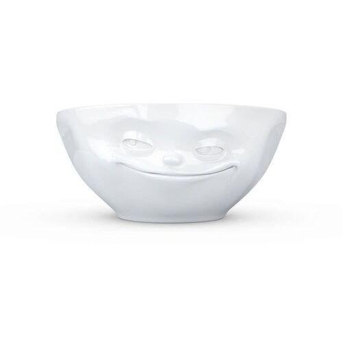 """- miseczka - """"uśmiechnięta buźka"""" - biała błyszcząca - 350 ml marki 58products"""