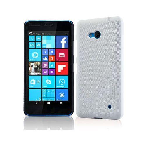 Etui Nillkin Frosted Lumia 640 Czarne - Biały, kolor biały