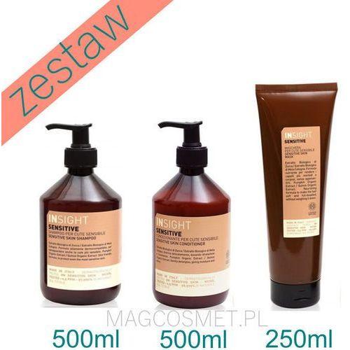 sensitive zestaw dla wrażliwej skóry głowy szampon 500ml odżywka 500ml maska 250ml marki Insight