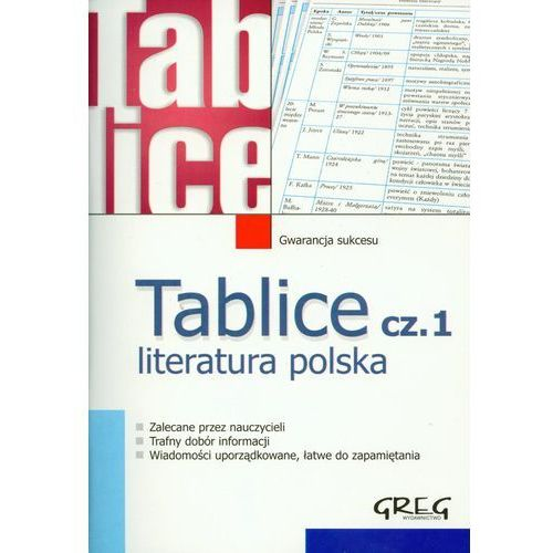 Tablice Literatura polska 1, oprawa miękka