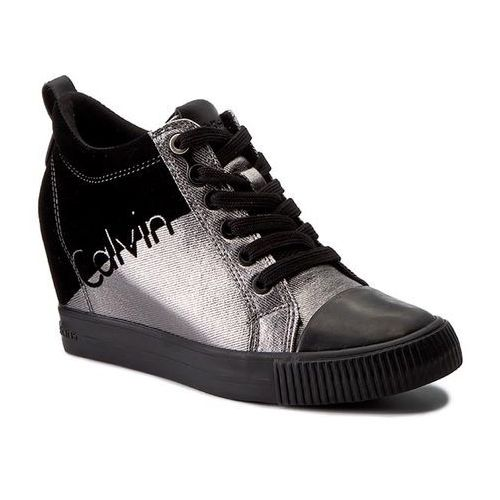 Sneakersy CALVIN KLEIN JEANS - Rory R0646 Pewter/Black, kolor szary