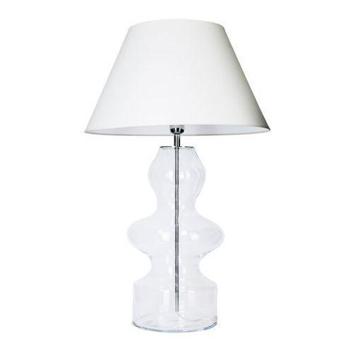 4concepts Lampa stołowa lampka torino 1x60w e27 biały/przezroczysty l012031230