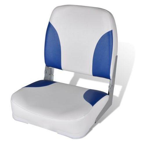 fotel na łódź, biało-niebieski z miękkim podbiciem (56x43x48 cm), marki Vidaxl