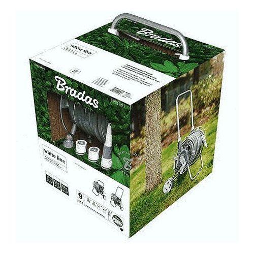 Zestaw white silver plus 20m wąż ogrodowy + akcesoria przyłączeniowe marki Bradas
