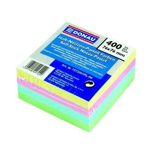 Bloczek  pasel w kostce 76x76 mm mix kolorów pastelowych 400 kartek samoprzylepnych, marki Donau