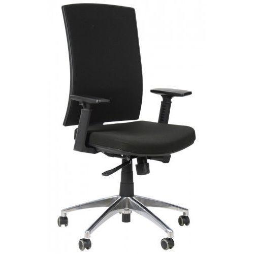 Stema - kb Krzesło biurowe obrotowe z podstawą aluminiową kb-8922b/alu/czarny, fotel biurowy