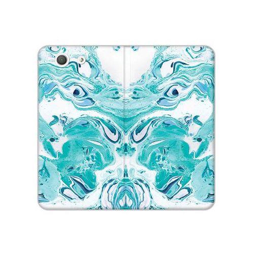 Etuo flex book fantastic Sony xperia z3 compact - etui na telefon flex book fantastic - niebieski marmur