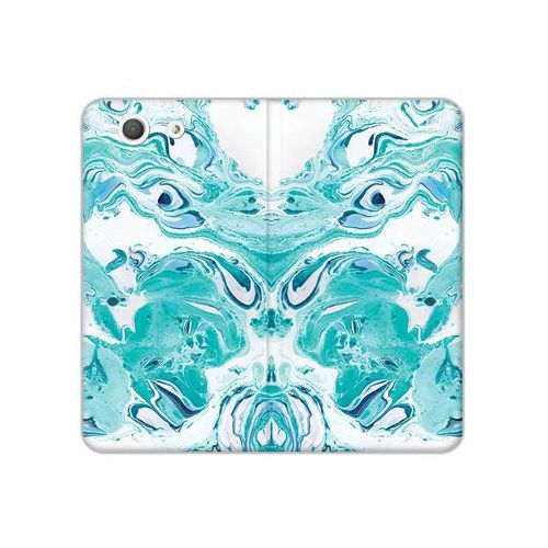 Sony Xperia Z3 Compact - etui na telefon Flex Book Fantastic - niebieski marmur, ETSN133FBFCFB029000