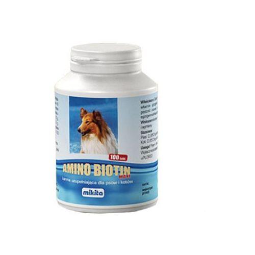 MIKITA Amino biotin maxi - mieszanka witaminowo - aminokwasowa dla psów i kotów 100tab.