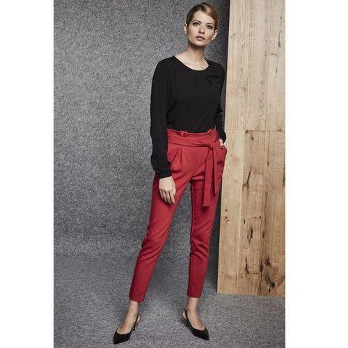 Czerwone spodnie materiałowe - Ennywear, kolor czerwony
