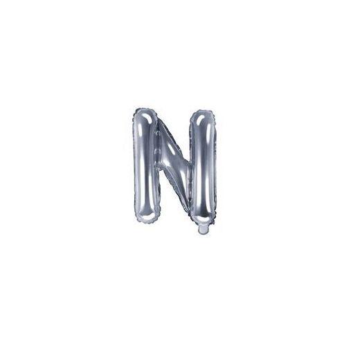 "Party deco Balon foliowy litera ""n"" srebrna - 35 cm (5902230772212)"